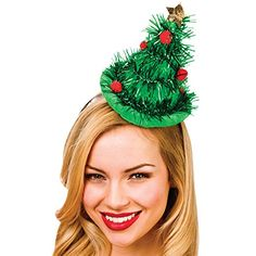 Adults Green Tinsel Christmas Tree Hat On Headband Xmas Fancy Dress Accessoy New Christmas Tree Headband, Tinsel Christmas Tree, Tinsel Tree, Christmas Parties, Christmas Hats, Summer Christmas, Xmas Party, Wicked Costumes, Costumes For Sale