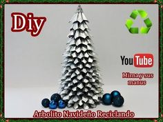Diy.Como hacer un arbolito navideño reciclando. Diy.How to make a Christ...
