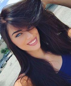 All Beautiful Women Most Beautiful Faces, Stunning Eyes, Beautiful Long Hair, Gorgeous Women, Brunette Beauty, Hot Brunette, Hair Beauty, Girl Face, Woman Face