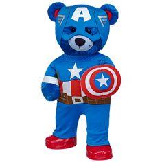 Ready for Action Captain America Bear - Build-A-Bear Workshop US