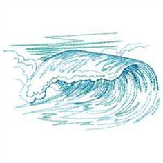 Imgs For > Ocean Wave Design Machine Quilting, Machine Embroidery, Quilting Designs, Embroidery Designs, Wave Design, Sea Waves, Strand, Cross Stitch Embroidery, Fiber Art