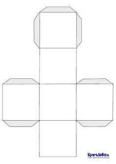 Blank dice template; will use this for alphabet and number review games until I get the pocket cubes