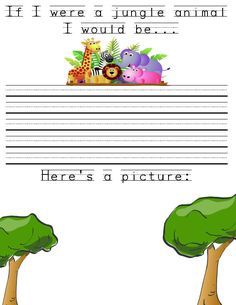 Preschool Journal Topic: Jungle Animal Theme | The Crafty Teacher