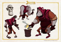 OSOKARO: JUSTIN AND THE KNIGHTS OF VALOUR XIII: WOTTON CHARACTER DESIGN
