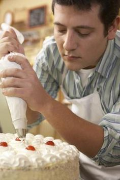 When preparing whipped cream for frosting a cake, it's important to stabilize it with gelatin to help it hold its shape. Stabilizing the whipped cream is e