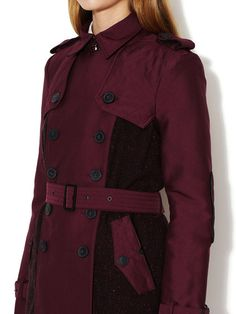 Albin Tweed Accented Woven Trench by Sam Edelman at Gilt