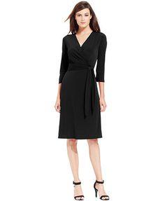 cefb3289a47 NY Collection B-Slim Faux-Wrap Body-Shaper Dress Women - Dresses - Macy s