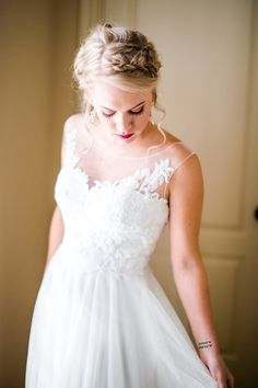 Wedding dress!  Dress from: BHLDN Photo by: Lindsey Mueller Photography