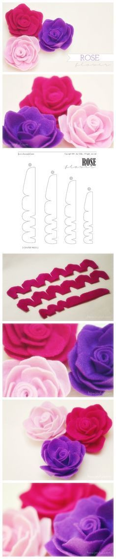 Tutorial: Felt Roses from: Welcome Craft.