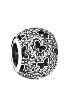 Free shipping and returns on PANDORA 'Fluttering Butterflies' Bead Charm at Nordstrom.com. Tiny butterfly-shaped cutouts surrounded in pavé-set sparklers add winsome, attractive detail to this silver bead charm.