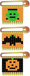 Halloween beaded safety pin patterns