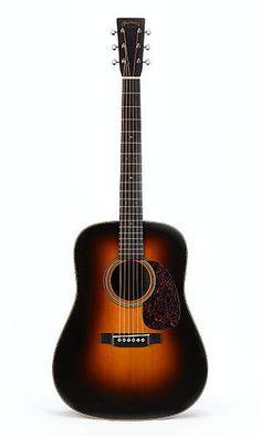 Martin D-28 Marquis Sunburst acoustic guitar.  Gitary: http://swiatinstrumentow.pl/gitary