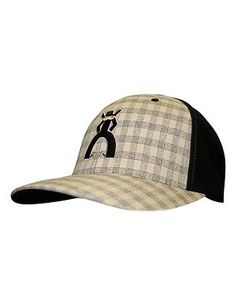 HOOey Hat Mens Punchy Cocinero Flexfit L XL Black Tan Plaid 5009BKTN e598013fa4