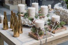 Tischdekoration in naturfarben. #tischdeko #advent #weihnachten