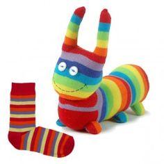 Animaux en chaussettes - Chenille chaussette