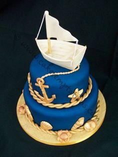 Nautical Cake Nautical cake Cake and Sailboat cake