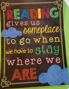 Reading gives us someplace to go when we have to stay where we are Mini Library, Little Library, Library Posters, Small Hallways, Book Nooks, Poster On, To Go, Corner, Boutique