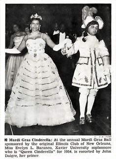 Evelyn Baranco, Xavier University Sophomore, Crowned Queen Cinderella at Annual Mardi Gras Ball - Jet Magazine, March 11, 1954 via flickr making my debut with the Original Illinois Club this year!