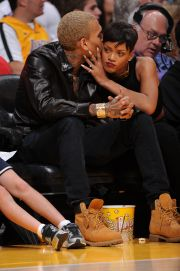Chris Brown and Rihanna at Staples Center LA (Chris Wolf/Getty Images)