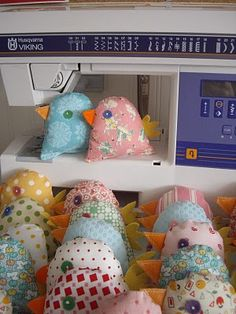 Sweet & simply little birds to sew @Leigh Rountree --I'd love some of these for Berkley's room someday...all sizes!