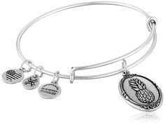 Alex and Ani Pineapple II Expandable Rafaelian Bangle Bracelet  http://stylexotic.com/alex-and-ani-pineapple-ii-expandable-rafaelian-bangle-bracelet/