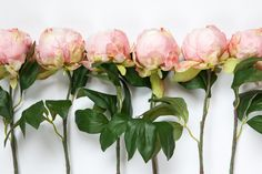 Shabby Chic Silk Peony Bud in Light Pink ON STEM - 18 inch stem - Artificial Silk Flowers - Bouquet or Floral arrangement - ITEM 0915 by SimplySerraFloral on Etsy