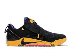 new concept 00f76 55a66 ... sale basketball chaussures homme nike kobe ad nxt prix pas cher noir  jaune pourpre 882049id002 442ed