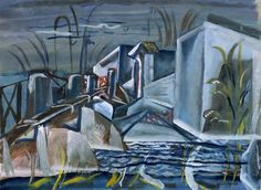 Return of the River, 1937 - Frances Hodgkins gouache on paper Landscape Elements, Elements Of Design, New Zealand Art, Nz Art, Room Of One's Own, Art Society, Galleries In London, Renaissance Art, French Artists