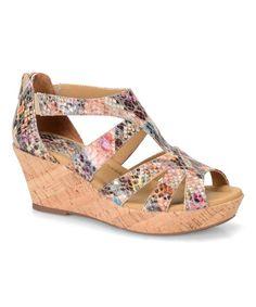 Look at this #zulilyfind! Rainbow Rhode Leather Wedge Sandal #zulilyfinds