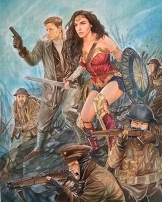 Wonderful artwork of Wonder Woman & Steve Trevor by thegerjoos Alter Ego, Alien Girl, Casting Pics, Marvel Films, Warrior Girl, Wonder Woman, Princesa Diana, Iconic Women, Cultura Pop