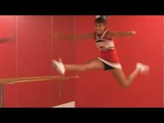 Herkie: Cheerleader How To & Tips for Perfect Jumps and Splits, Cheer with Inez    Inez is a high school cheerleader and in this video she demonstrates how to do a Herkie—she shows you the 8 counts and some great stretches for improving flexibility and perfecting your jump.  She explains how each stretch helps you master the move and improve fle...