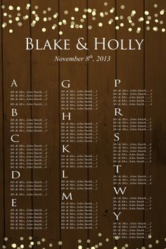Rustic Wedding Seating Chart//rustic wedding//country wedding on Etsy, $50.00