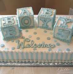 Extraordinary Baby Shower Cakes - Baby shower cakes for boys Baby Shower Kuchen, Idee Baby Shower, Baby Shower Cakes For Boys, Baby Boy Cakes, Baby Shower Games, Baby Boy Shower, Shower Party, Baby Shower Parties, Shower Gifts