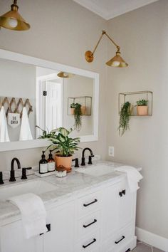This modern boho bathroom remodel was definitely one for the books. Deciding to demo right before a deployment on top of being 6 months pregnant. The modern boho design is great for a guest bathroom and fun enough for a childrens bathroom.