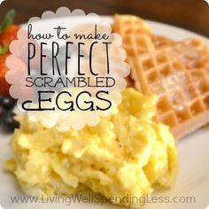 Want to know the secret is to making perfectly scrambled eggs?  Don't miss these step by step instructions for how to  make the most delicious scrambled eggs  you've ever tried   Best Breakfast Recipe
