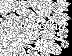 Swear Words Coloring Pages Adult fucking color Pinterest