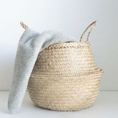 Bloomingville Seagrass Belly Basket // Available  from ElvaHem.com