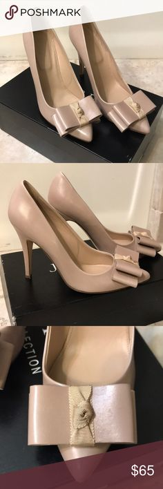 """J. Crew Collection Viv Heels Gorgeous nude heels by J. Crew Collection. All leather including soles and insoles.  Size 7. Worn once.  Soles still in great condition.  Made in Italy.  Heel height 4"""". Original box and dust bag. J. Crew Shoes Heels"""