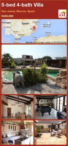 5-bed 4-bath Villa in San Javier, Murcia, Spain ►€450,000 #PropertyForSaleInSpain