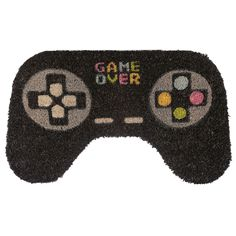 Game Over Shaped Door Mat Material: Natural Coir with PVC Backing Front Door Rugs, Coir Doormat, Birthday Gifts For Boys, Ceramic Animals, Game Controller, Welcome Mats, Unusual Gifts, Novelty Gifts, Amai