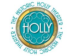 """The Holly theater's logo uses design elements to make the logo classy. Line is used to direct the viewers eye as well as add some class to the logo by varying the thickness. Colour is used to create contrast between the text and the background, thus making a hierachy in which """"HOLLY"""" is at the top."""
