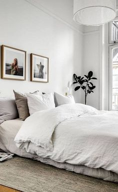 Best Scandinavian Bedroom Design for Simple Bedroom 10 - Schlafzimmer Modern Bedroom Design, Master Bedroom Design, Home Decor Bedroom, Bedroom Rustic, Bedroom Designs, Master Suite, Bedroom Rugs, Decor Room, Contemporary Bedroom