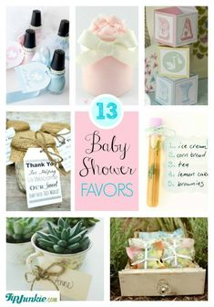 I just love party favors! I think handing out something to guests as they leave makes a perfect ending to the night. Here are 13 baby shower favors ideas your guests will adore as a thank you for helping welcome the upcoming arrival of a new baby boy or baby girl!