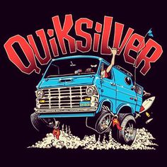 Quicksilver custom van art