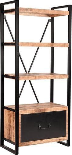 LABEL51 - Boekenkast Brussels - 80 cm  8719323328990 Moodboard App, Plank, Shelving, Magazine Rack, Bookcase, Cabinet, Storage, Furniture, Home Decor