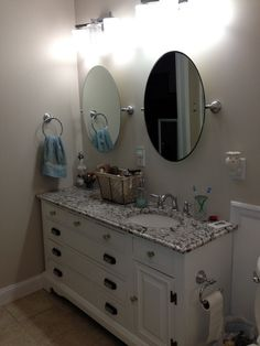 Shabby Chic Bathroom on a dime, Renovated a bathroom on a budget!, Master bathroom vanity created from an old dresser , Bathrooms Design