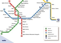 How to get from Athens airport to city center - Athens airport metro map