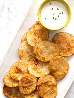 Chicken-fried potatoes with tangy buttermilk dressing