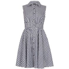 *Izabel London Navy Gingham Country Shirt Dress (420 NOK) ❤ liked on Polyvore featuring dresses, vestidos, navy, navy blue sleeveless dress, shirt dress, navy sleeveless dress, navy dress and navy blue shirt dress