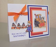 Little Trucks Birthday Boy by LaLatty - Cards and Paper Crafts at Splitcoaststampers